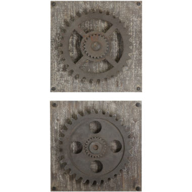 jcpenney.com | Rustic Gears Set of 2 Wall Decor