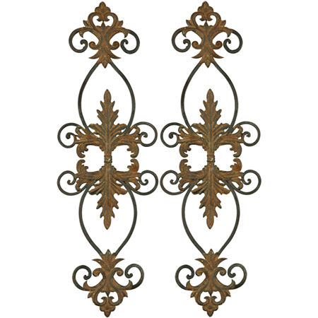 Lacole Set of 2 Iron Metal Wall Decor