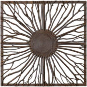 Josiah Square Wood Branch Wall Decor