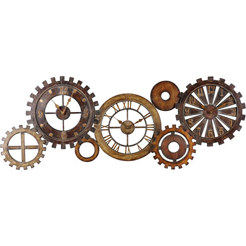 Spare Parts Metal Wall Clock