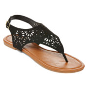 Mixit™ Lacy Cutout Shield Sandals