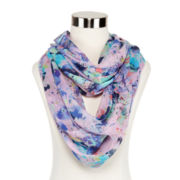 Speckled Floral Loop Scarf