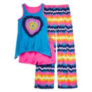 Total Girl® Hawaiian Ocean Heart 3-pc. Sleep Set - Girls 4-16