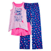 Total Girl® Sleep Over 3-pc. Sleep Set - Girls 4-16