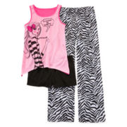 Total Girl® Zebra Girl 3-pc. Sleep Set – Girls 4-16