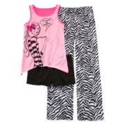 Total Girl® Zebra Girl 3-pc. Sleep Set - Girls 4-16