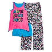Total Girl® White Leopard 3-pc. Sleep Set - Girls 4-16