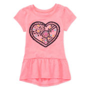 Arizona Cap-Sleeve Peplum Top – Toddler Girls 2t-5t