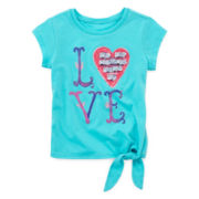 Arizona Short-Sleeve Tie-Front Tee - Toddler Girls 2t-5t