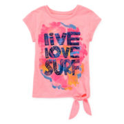 Arizona Short-Sleeve Tie-Front Tee – Girls 4-6x