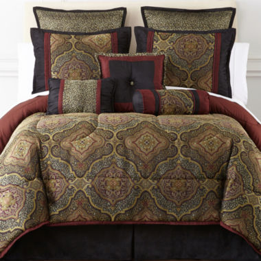 jcpenney.com | Victoria Falls 7-pc. Jacquard Comforter Set & Accessories