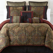 Victoria Falls 7-pc. Jacquard Comforter Set & Accessories