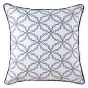"Liz Claiborne® Arabesque 18"" Embroidered Square Decorative Pillow"