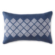 Liz Claiborne® Arabesque Diamond Mosaic Oblong Decorative Pillow