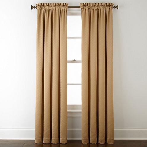 Royal Velvet® Georgia Rod-Pocket Curtain Panel