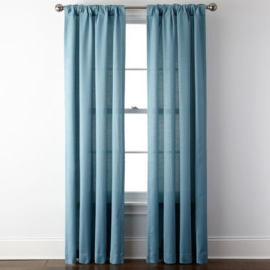 jcpenney.com | JCPenney Home™ Rialto Rod-Pocket/Back-Tab Curtain Panel