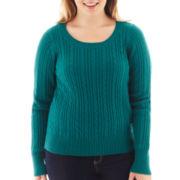 Arizona Cable Knit Sweater - Plus