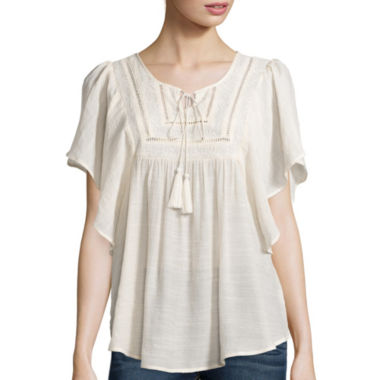jcpenney.com | Wallpapher Flutter-Sleeve Peasant Top