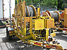 1972 Hydradyne TPH-1 Single-Drum Puller/Tensioner, trailer mtd