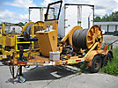 1982 Pengo TRDP-1 Single-Drum Puller/Tensioner, T/A trailer mtd