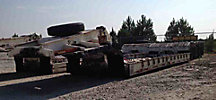 1985 Talbert HRG 50-Ton Tri-Axle Folding Gooseneck Lowboy Trailer