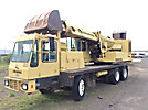 1986 Gradall G660C Hydraulic Excavator, s/n NP39730368, Cat 3208 diesel, with telescopic boom, 58 cleanout bucket & enclosed riding console rear mtd on Gradall G504-66RC Rubber Tired Carrier, s/n G866014, ...