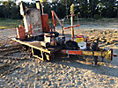 1989 Stimsonite T/A Road Marking Equipment Support Trailer, with 12' level deck over wheels & Stimsonite road line painting equipment