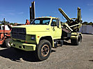 1990 Ford F600 Flatbed Truck
