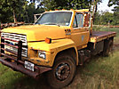 1990 Ford F700 Flatbed Truck
