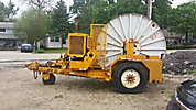 1993 Hogg Davis HP650 Self-Propelled Hydraulic Cable Puller, gas, trailer mtd (Reads 572 Hours)
