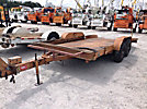 1996 Butler LT1016 T/A Tilt Top Tagalong Trailer, 5-Ton cap., 16' level deck between wheels