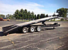 1996 M&M Line 10-Ton Hydraulic Tilt-Deck Tri/A Tagalong Trailer, with 20' level deck over wheels & ramps with pony motor and front hydraulic jack