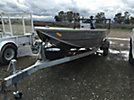 1999 18' JetCraft Aluminum Center Console Boat, with 115 hp Evinrude Outboard Motor & S/A Galvanized Bunk trailer s/n (47AVA1813X0061477)