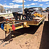 1999 Dynaweld 25-Ton T/A Tagalong Equipment Trailer