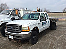 1999 Ford F350 4x4 Extended-Cab Flatbed Truck