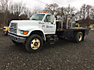 1999 Ford F800 Flatbed Truck