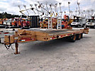 1999 Interstate 18DTA 9-Ton T/A Tagalong Trailer, 18' level deck over wheels, beavertail & ramps