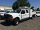 2000 Ford F350 4x4 Crew-Cab Flatbed Truck
