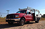 2000 Ford F350 Extended-Cab Flatbed Truck