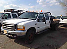 2000 Ford F450 4x4 Crew-Cab Flatbed Truck