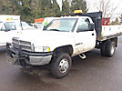 2001 Dodge W3500 4x4 Flatbed Truck
