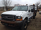 2001 Ford F350 4x4 Extended-Cab Flatbed Truck