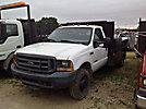 2001 Ford F350 4x4 Flatbed Truck