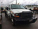 2001 Ford F450 4x4 Flatbed Truck