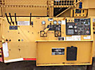2001 Vermeer TG525 Portable Tub Grinder, s/n 1VRU403J1X000121, Cat 3406 525 hp diesel, with 12' grinding tub, rear hydraulic folding discharge conveyor & hyd outriggers mtd on tri-axle trailer (No Title) ...