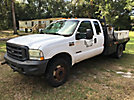 2002 Ford F450 4x4 Extended-Cab Flatbed Truck