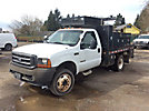 2002 Ford F450 4x4 Flatbed Truck