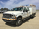 2002 Ford F550 4x4 Crew-Cab Flatbed/Service Truck
