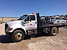 2002 Ford F750 Flatbed Truck