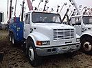 2002 International 4900 T/A Flatbed/Utility Truck